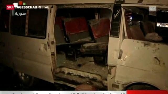 Anschlag in Damaskus (Tagesschau, 4.1.2013)
