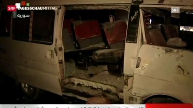 Video «Anschlag in Damaskus (Tagesschau, 4.1.2013)» abspielen