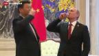 Video «Russland und China schliessen milliardenschweren Gasvertrag ab» abspielen