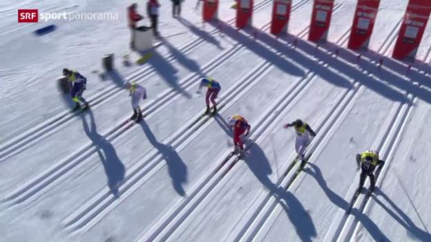 Video «Langlauf: Der Weltcup-Sprint in Davos» abspielen