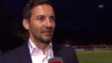 Video «Fussball: Cup, Breitenrain - St. Gallen, Interview Zinnbauer» abspielen