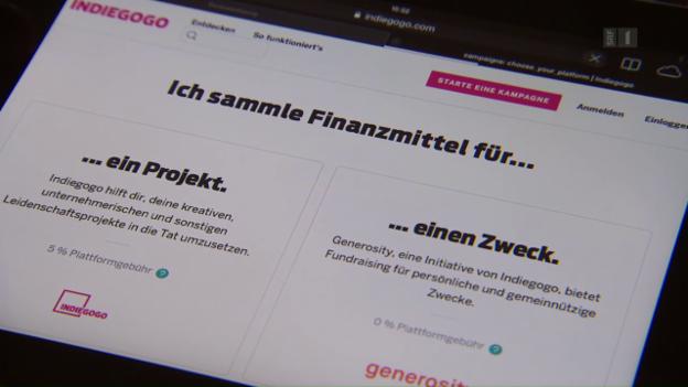 Video «Per Crowdfunding Geld gesammelt und nichts geliefert» abspielen