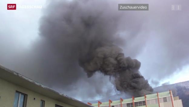 Video «Brand in Solothurner Uhrenfabrik» abspielen