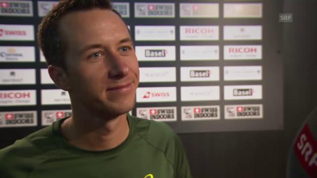 Video «Tennis: Swiss Indoors, Philipp Kohlschreiber über die Schweiz» abspielen