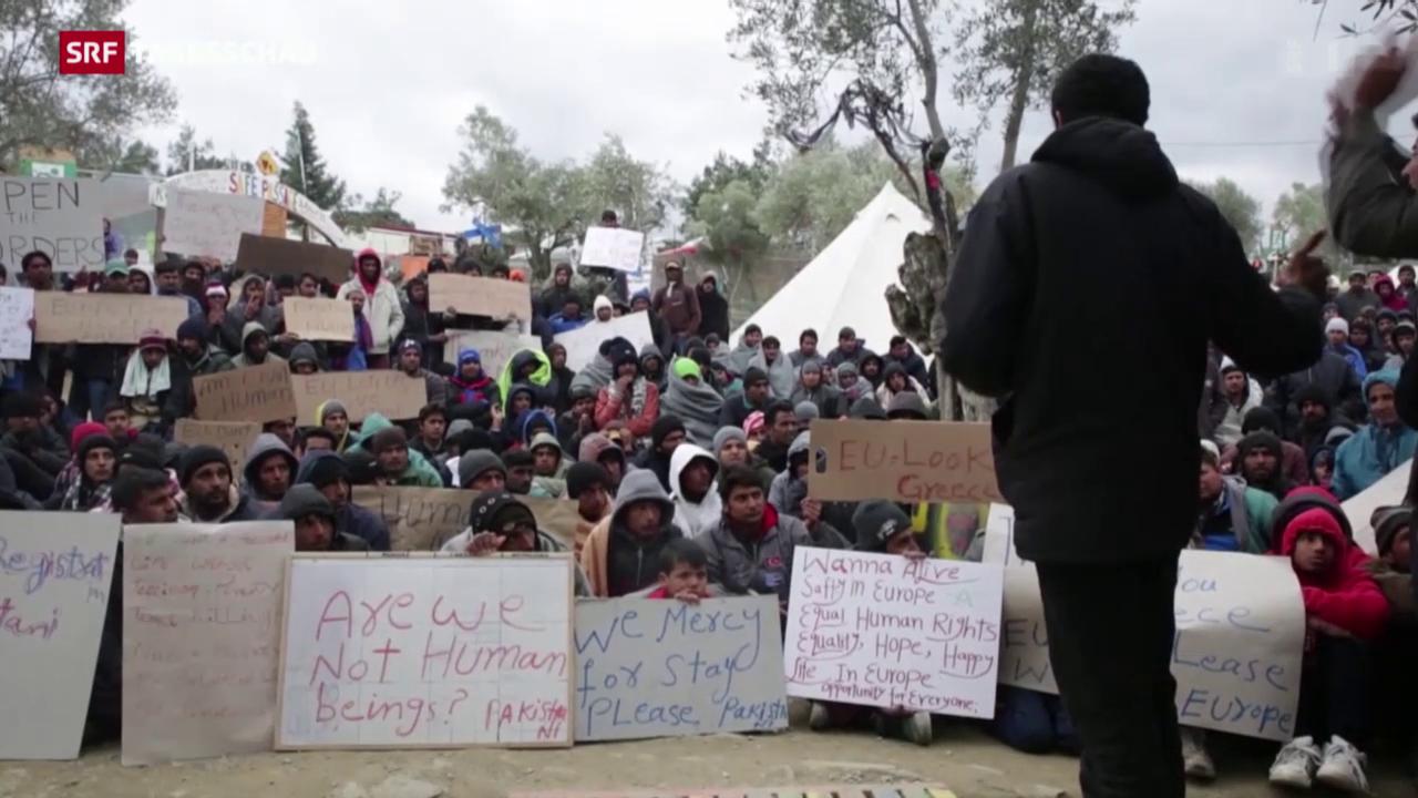 Verzweifelte Flüchtlinge in Griechenland