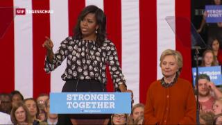 Video «Michelle Obama wird zur Wahlhelferin für Hillary Clinton» abspielen