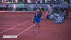 Video «Tennis: French Open in Paris, Halbfinal Bacsinszky-Williams» abspielen