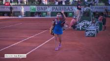 Video «Tennis: French Open in Paris, Halbfinal Bacsinszky-Williams» abspielen