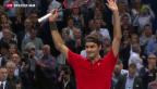 Video «Federer gewinnt die Swiss Indoors» abspielen