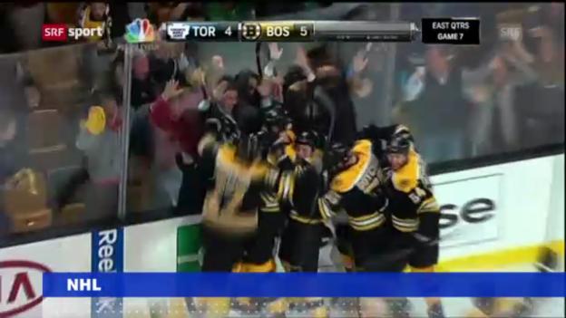 Video «NHL-Playoffs: Bruins eliminieren Toronto («sportnews»)» abspielen