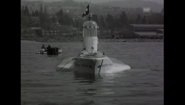 Video «Das U-Boot taucht nicht - 01.05.1964 Schweizer Filmwochenschau» abspielen