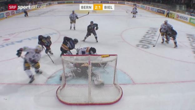 Video «Eishockey: NLA, Bern - Biel» abspielen