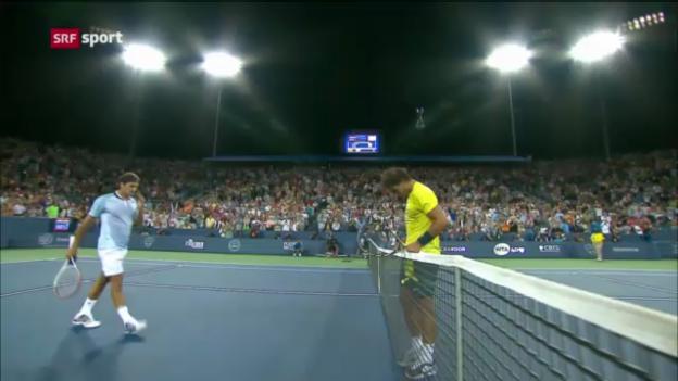 Video «Zusammenfassung Federer - Nadal («sportaktuell»)» abspielen