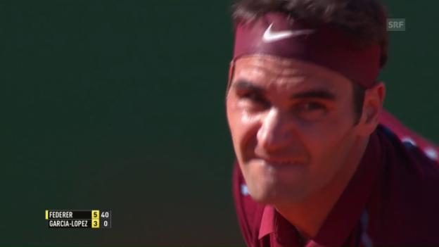 Video «Federers Sieg über Garcia-Lopez in Monte-Carlo» abspielen