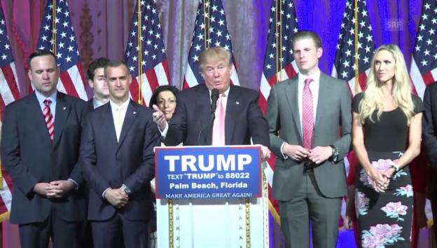Video «Donald Trump lässt sich feiern» abspielen