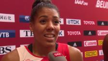 Video «Leichtathletik: WM in Peking 2015, 4x100m Staffel Frauen, Interview Schweizer Frauenstaffel» abspielen