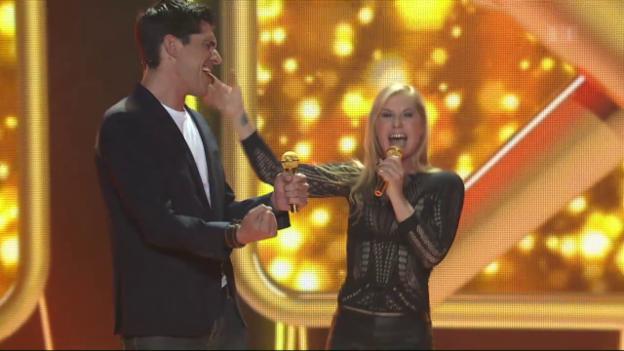 Video «Lipsync Battle: Das Finale zwischen Denise Biellmann und Franco Marvulli» abspielen