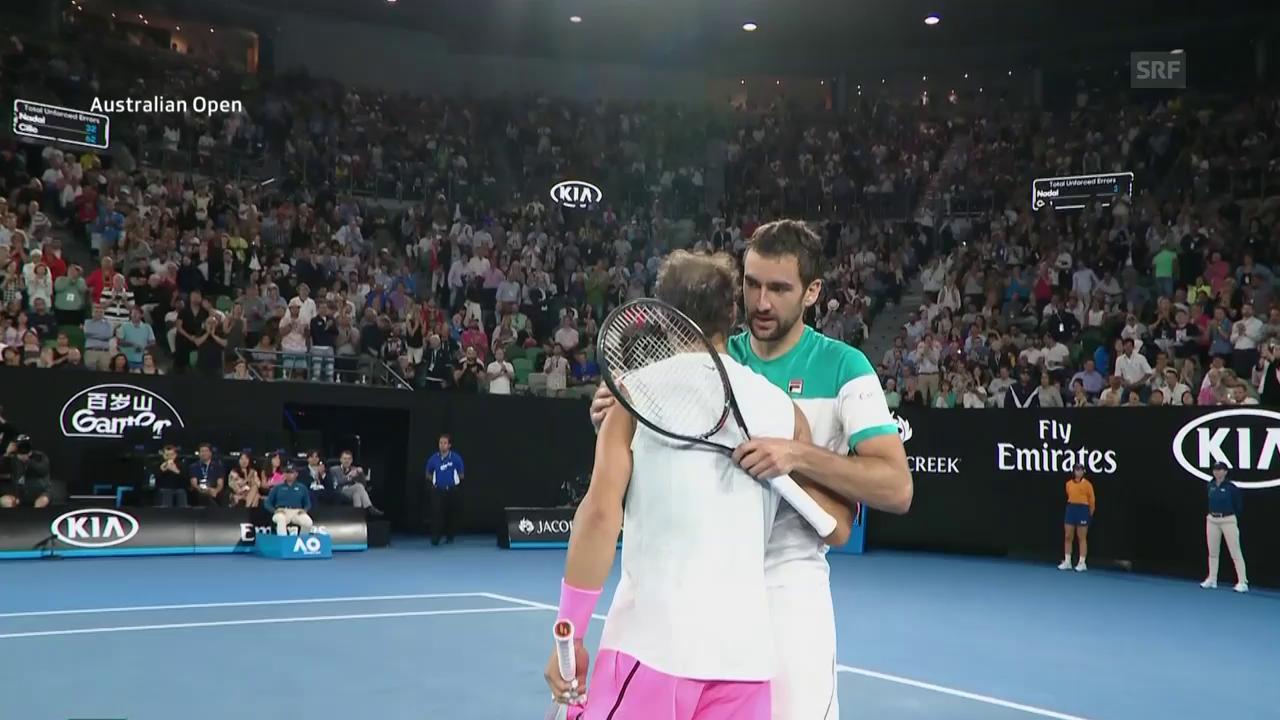 Nadal - Cilic: Die Live-Highlights