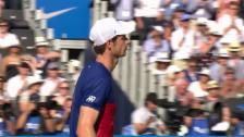 Video «Murray scheitert an Lucky Loser Thompson» abspielen