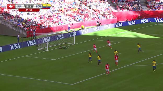 Video «Fussball: Frauen-WM, Schweiz-Ecuador, das 9:1» abspielen