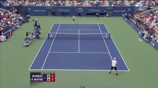 Video «Satz- und Matchbälle Murray - Mayer (unkommentiert)» abspielen