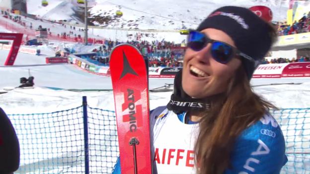 Video «Goggia: «This is unglaublich» (englisch)» abspielen