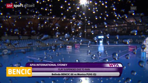 Video «Halbfinal von Bencic auf Freitag vertagt» abspielen