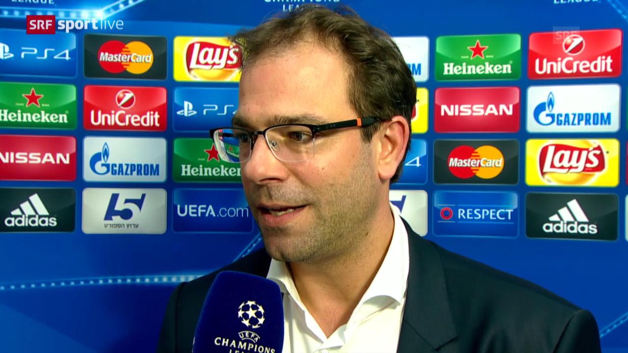 Fussball: Champions League, Interview Heitz