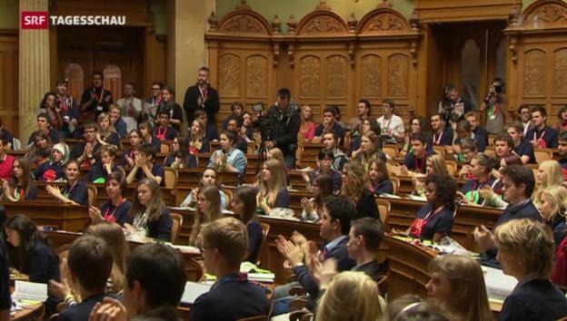 Video «Jugendsession in Bern geht zu Ende» abspielen