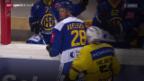 Video «Eishockey: Der HC Davos am Tag nach dem 7:1-Sieg» abspielen