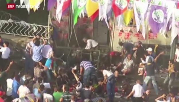 Video «Unruhen vor Wahlen in der Türkei» abspielen