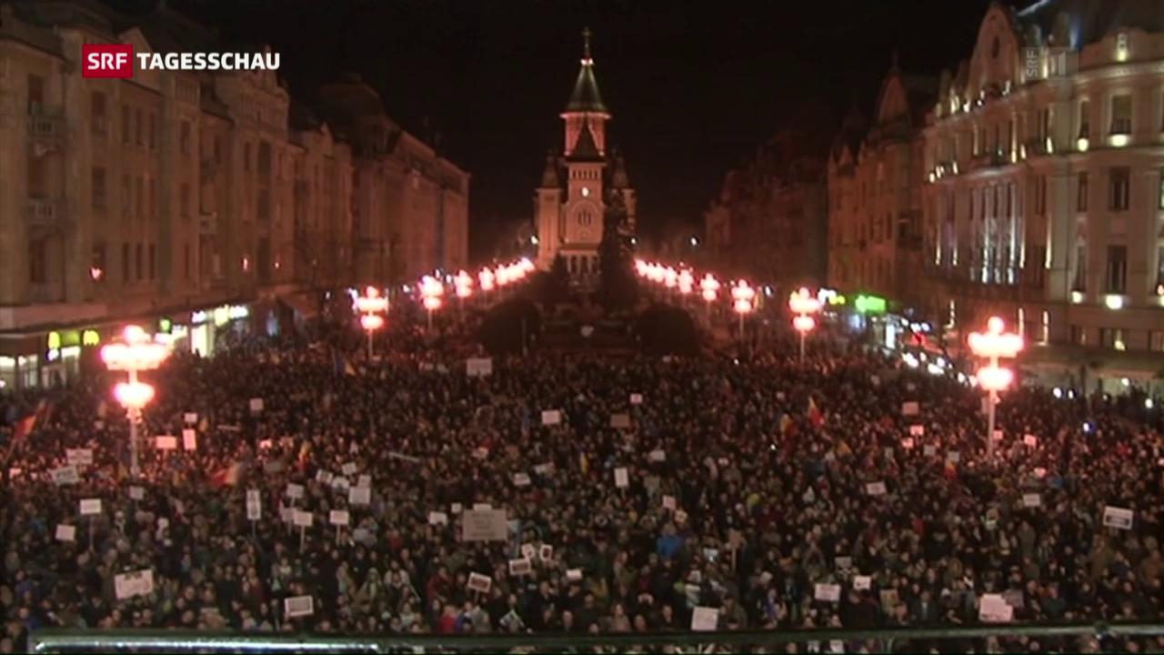 Hunderttausende protestieren gegen rumänische Regierung