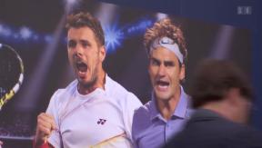 Video ««Fedrinka»: Roger Federer und Stan Wawrinka in Basel» abspielen