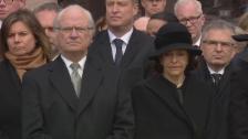 Video «Trauerminute für die Terror-Opfer von Stockholm (unkomm.)» abspielen