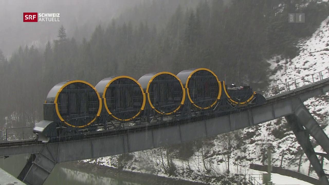 Neue Hightech-Bahn auf den Stoos in Betrieb