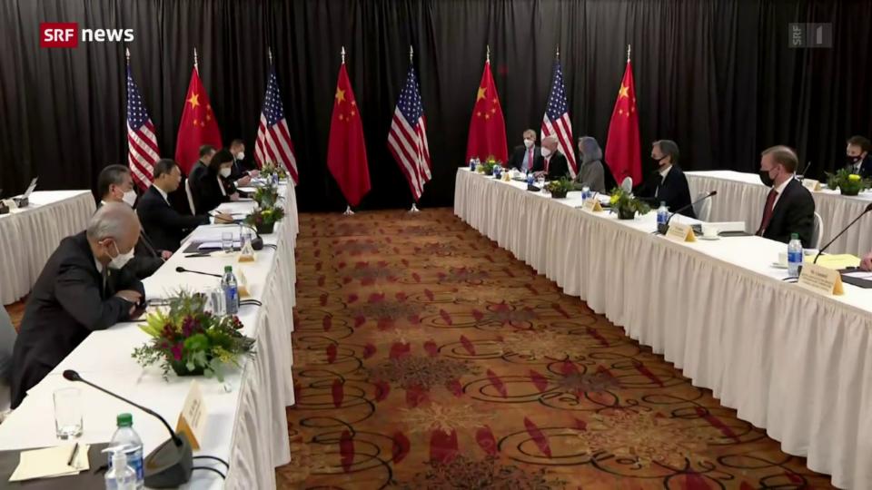 Treffen USA und China in Zürich