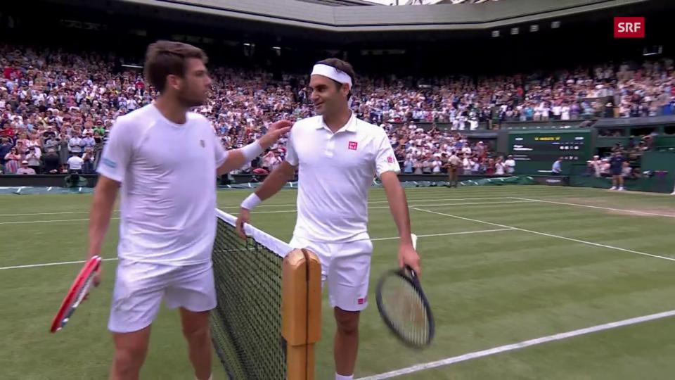 Federer dumogna Norrie en quatter sets.