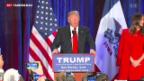 Video «Trump unter den Verlierern der ersten Vorwahlen» abspielen