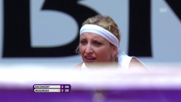 Video «Viertelfinal-Out für Bacsinszky in Rom» abspielen