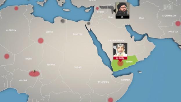 Video «Karte der islamistischen Terror-Gruppen» abspielen
