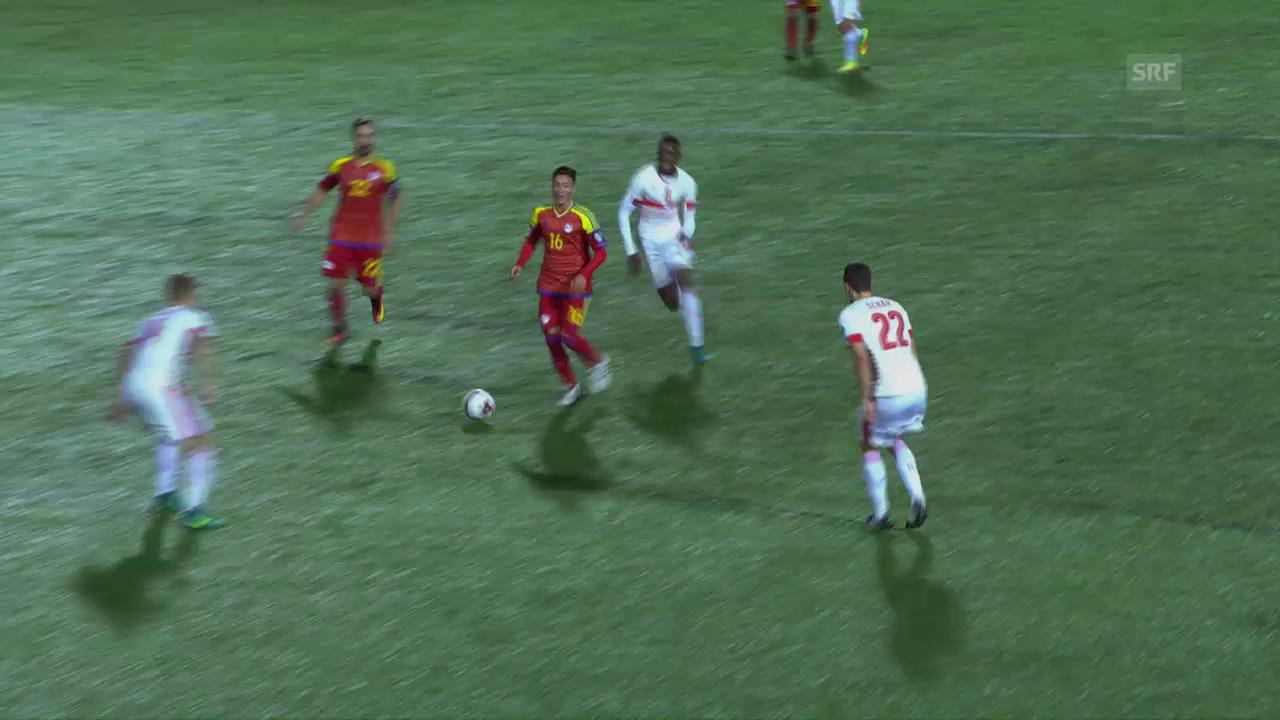 Andorras Martinez erzielt Traumtor gegen die Schweiz