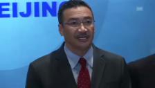 Video «Malaysischer Verkehrsminister informiert die Medien (englisch)» abspielen