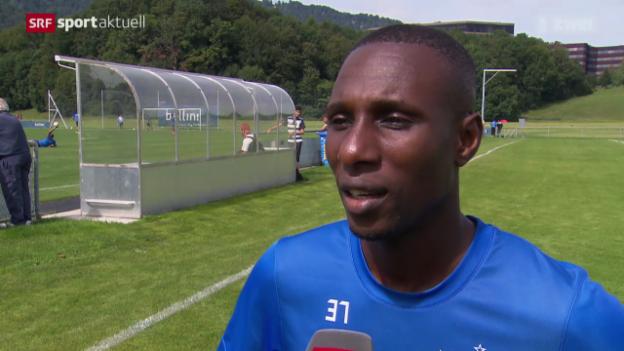 Video «Fussball: Gilles Yapi vor Duell mit seinem Ex-Klub» abspielen