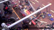 Video «Der missglückte Boxenstopp von Ricciardo» abspielen