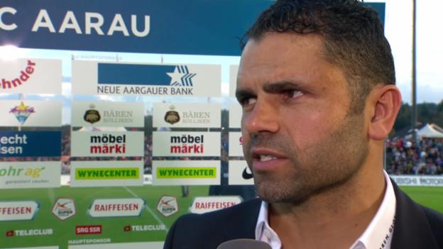 Video «Fussball: Super League, Aarau - YB, Interview mit Uli Forte» abspielen