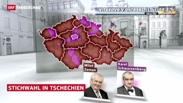 Video «Präsidentschaftswahl in Tschechien» abspielen