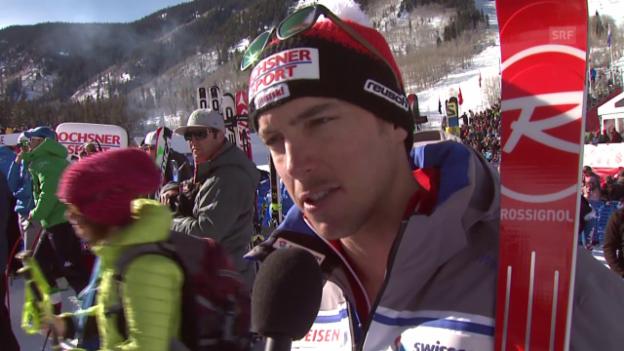Video «Ski Alpin: Janka über sein Rennen in Beaver Creek» abspielen