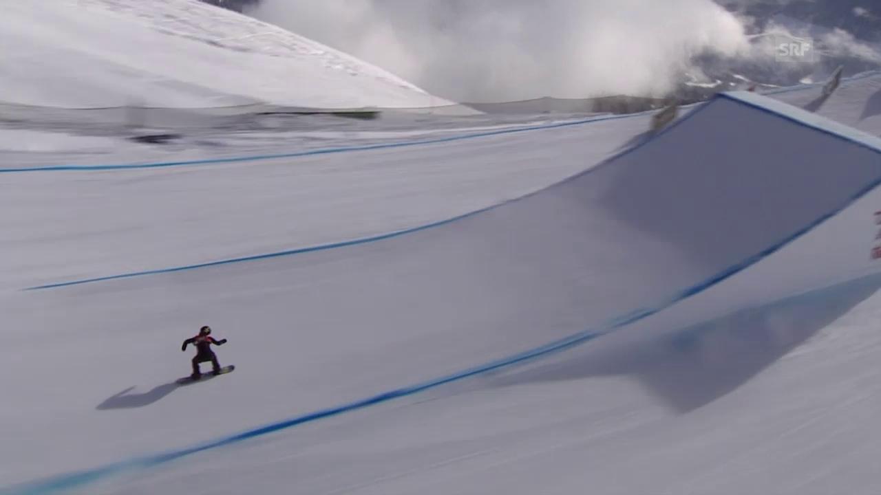 Snowboard: European Open in Laax, Slopestyle, Sieg-Run von Christy Prior