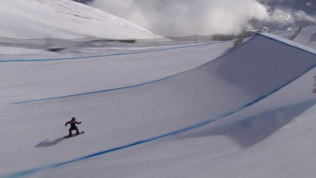 Video «Snowboard: European Open in Laax, Slopestyle, Sieg-Run von Christy Prior» abspielen
