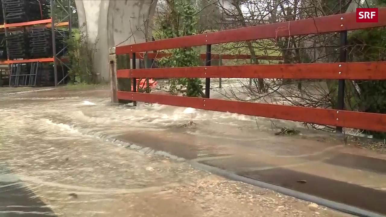 Regen sorgt für Hochwasser und Erdrutsche